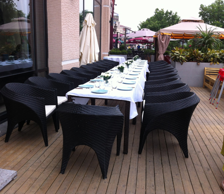 蓝港悦澜湾餐厅遮阳伞案例