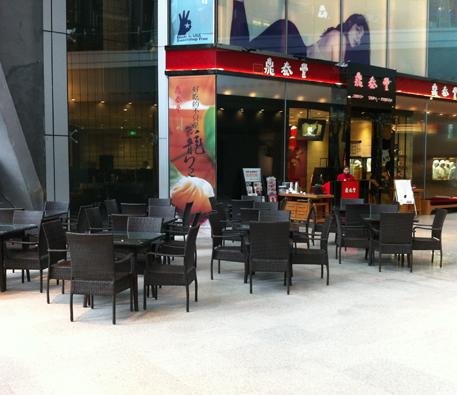 鼎泰丰餐厅户外家具案例