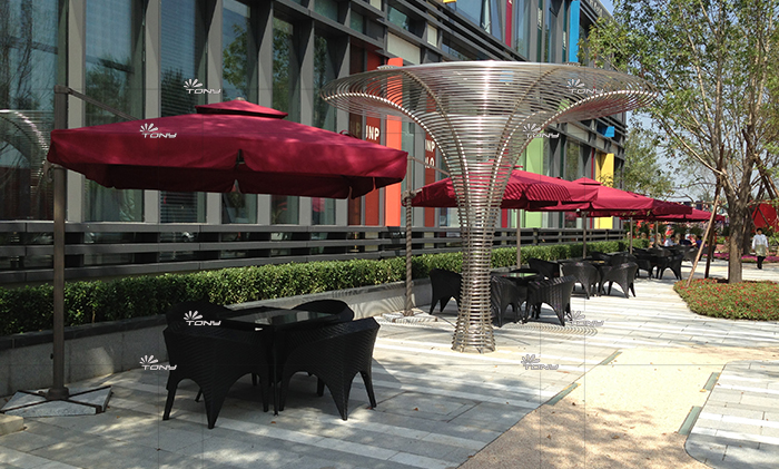 高端楼盘售楼处不可缺少的户外休闲桌椅