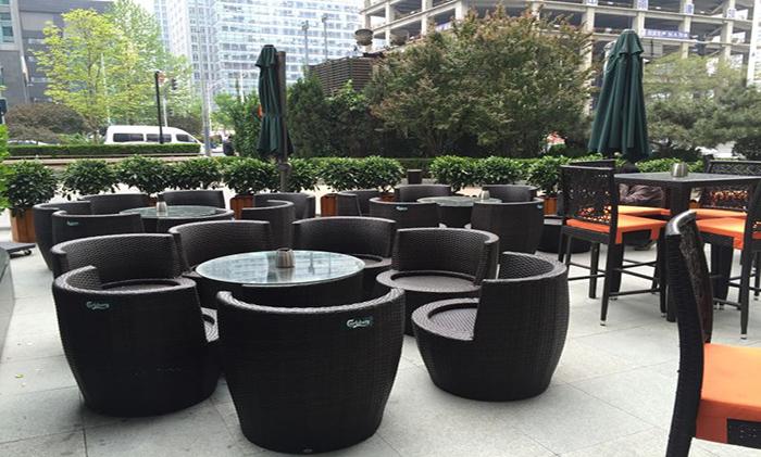 餐厅酒吧户外外摆休闲桌椅定制案例