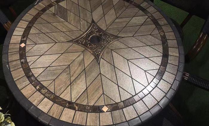 铸铝艺术陶瓷户外桌椅多规格多款选择多种场合的应用
