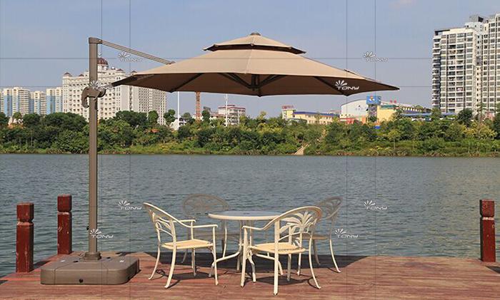 户外遮阳伞-AMT直径3米卡其罗马伞