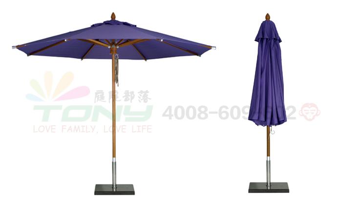 豪华中柱遮阳伞-宝石蓝(玻纤)