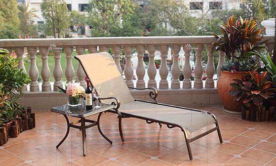 agio-勃艮第网布躺椅