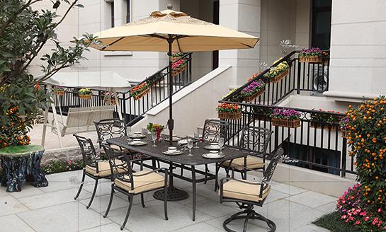 agio-传承铸铝桌椅