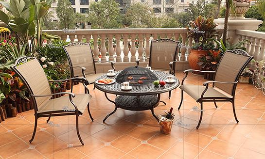 agio-罗马铸铝网布桌椅