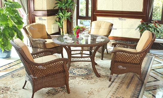 agio-暖阳编藤桌椅