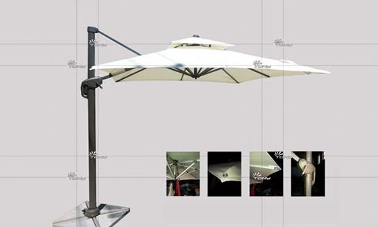 户外遮阳伞-AMT新款正方罗马伞