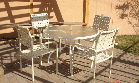 户外家具-板带桌椅