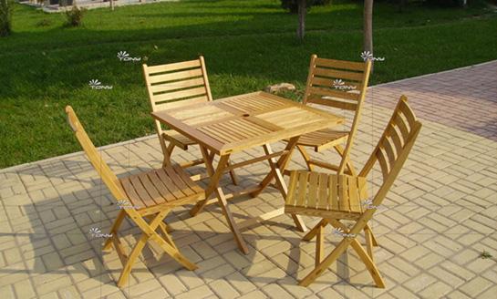 实木桌椅-水曲柳正方桌