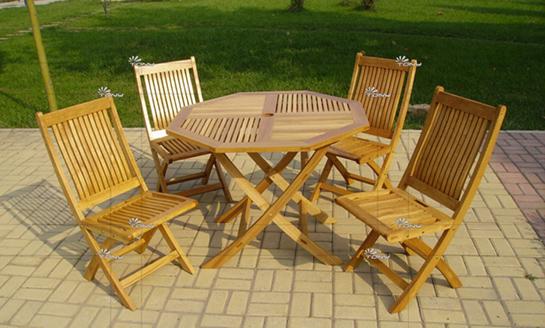 实木桌椅-水曲柳八角桌