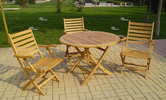 实木桌椅-水曲柳圆桌