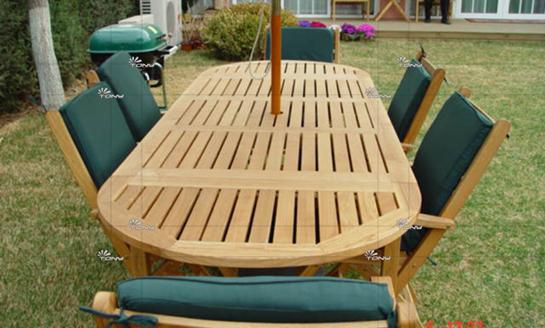 实木桌椅-水曲柳椭圆桌