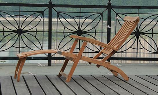 实木躺椅-水曲柳折叠躺椅