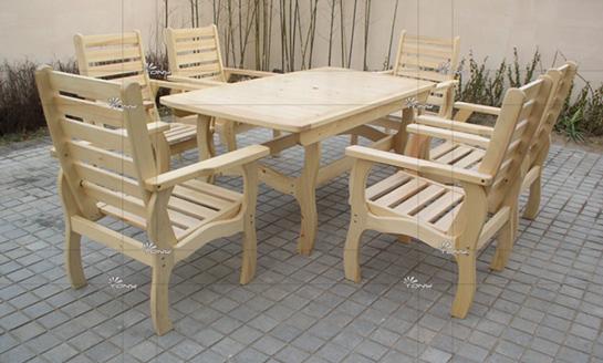 实木桌椅-松木定制长方桌