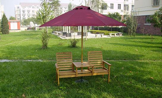 实木桌椅-水曲柳实木连体桌椅