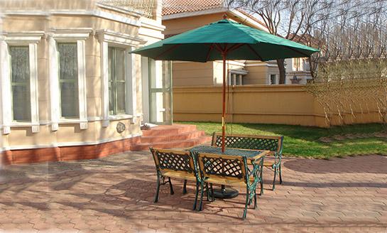 铁木结合公园桌椅