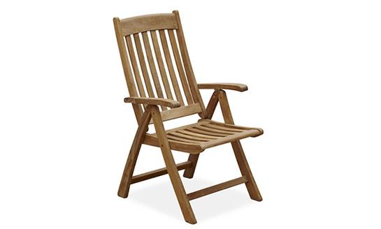 实木竖条折叠椅
