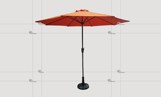 户外遮阳伞-AMT砖红中柱伞