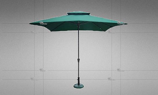 户外遮阳伞-AMT方形墨绿中柱伞