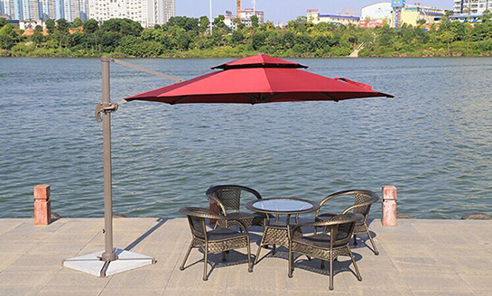 户外遮阳伞-AMT直径3米酒红罗马伞