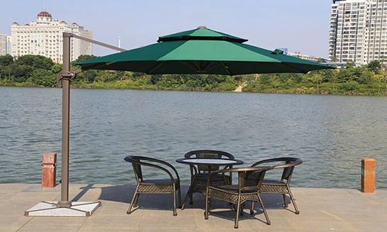 户外遮阳伞-AMT直径3米墨绿罗马伞