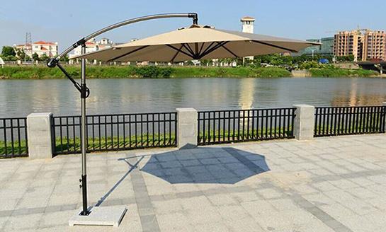户外遮阳伞-AMT直径3米卡其香蕉伞