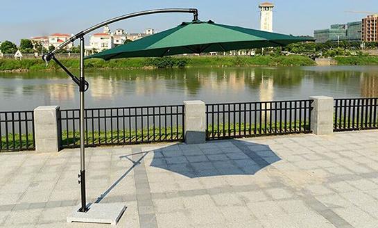 户外遮阳伞-AMT直径3米墨绿香蕉伞