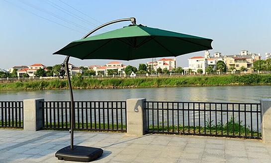 户外遮阳伞-AMT墨绿地中海香蕉伞