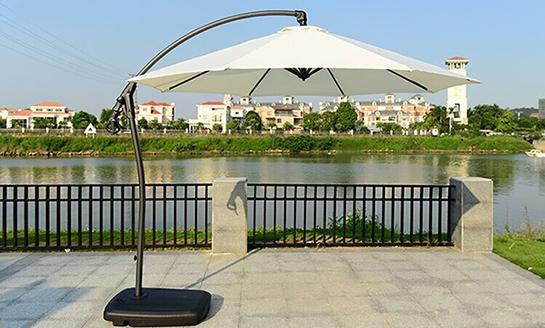 户外遮阳伞-AMT米白地中海香蕉伞