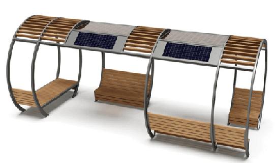 NJ-T04a太阳能凉亭座椅