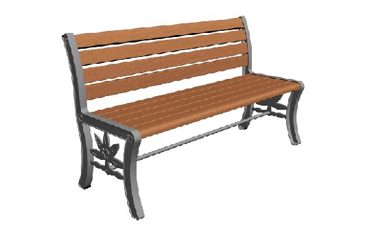 NJ-Z10-实木公园椅