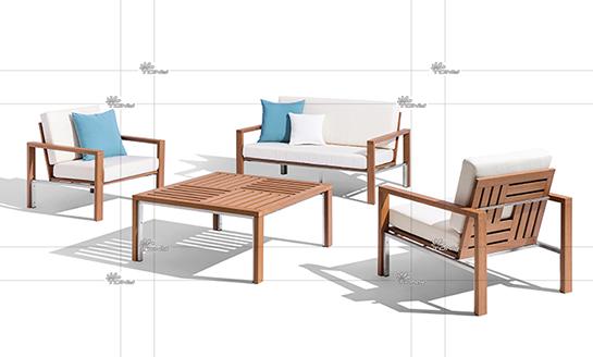 塑木桌椅-01#