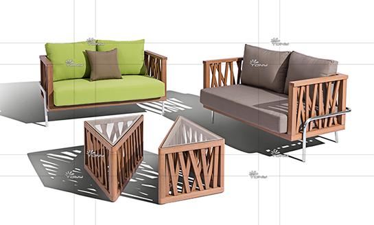 塑木桌椅-02#