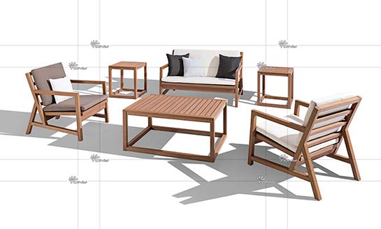 塑木桌椅-03#