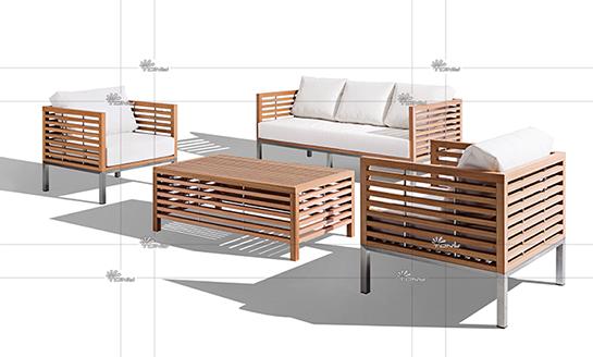 塑木桌椅-05#