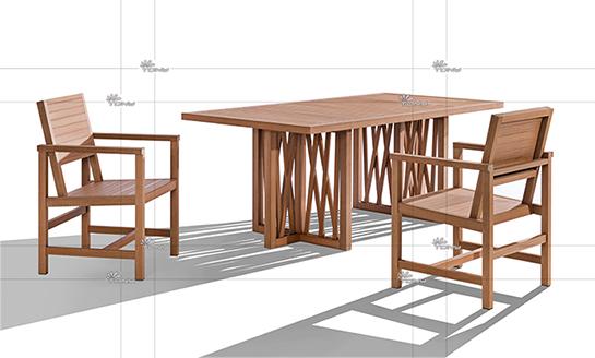 塑木桌椅-11#