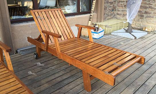 实木躺椅-柚木折叠大躺椅