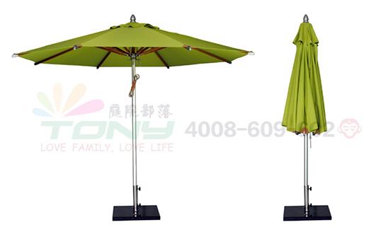 豪华中柱遮阳伞-苹果绿(铝合金)