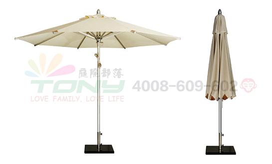 豪华中柱遮阳伞-米白(铝合金)
