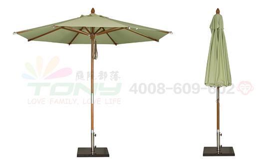 豪华中柱遮阳伞-浅绿(玻纤)