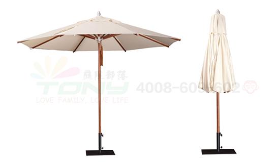 豪华中柱遮阳伞-米白(玻纤)
