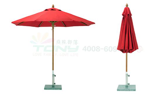 豪华中柱遮阳伞-中国红(玻纤)
