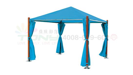 豪华四角遮阳篷-蓝色