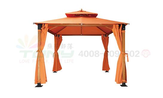 豪华四角遮阳篷-橘色
