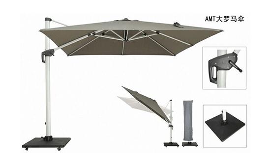 遮阳伞-美版双顶正方罗马伞