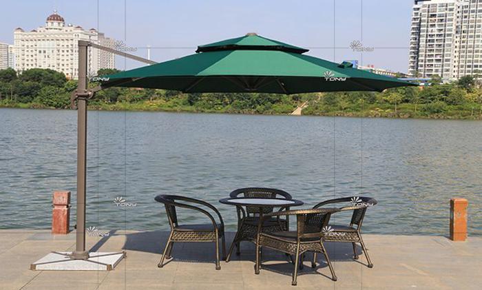 遮阳伞-3米直径双顶圆形罗马伞