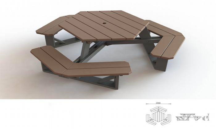 公园桌椅BL-719