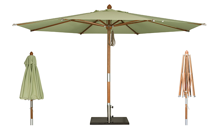 (定制)实木中杆遮阳伞(进口面料)