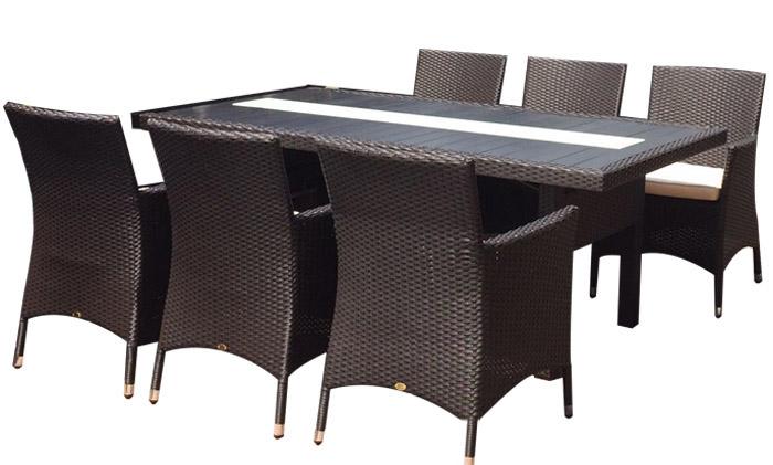 编藤塑木桌椅TY-1709